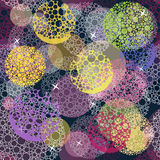 Abstract cute seamless polka dot circle pattern. Stock Photo