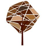 Abstract cute tree. On a white background Royalty Free Stock Photography