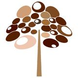 Abstract cute tree. On a white background Royalty Free Stock Photo