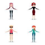 Abstract cute Women Royalty Free Stock Images