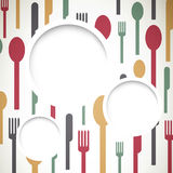 Abstract Cutlery Stock Images