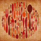 Abstract cutlery vintage background Stock Images