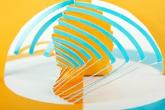 Abstract cutout blue and orange paper background Stock Images