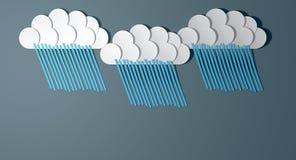 Abstract Cutout Cartoon Rainclouds Stock Photo