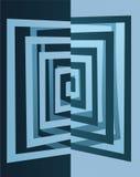 Abstract cutout cube  Stock Photo