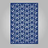 Abstract cutout panel for laser cutting, die cutting or stencil. Vector filigree pattern for wedding invitation card Stock Photos