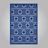 Abstract cutout panel for laser cutting, die cutting or stencil. Vector filigree pattern for wedding invitation card Royalty Free Stock Photos