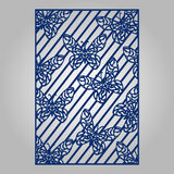 Abstract cutout panel for laser cutting, die cutting or stencil. Royalty Free Stock Photo