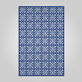 Abstract cutout panel for laser cutting, die cutting or stencil. Stock Image