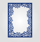 Abstract cutout panel for laser cutting, die cutting or stencil. Vector filigree pattern for wedding invitation card Stock Images