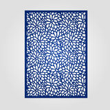 Abstract cutout panel for laser cutting, die cutting or stencil. Royalty Free Stock Image