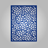 Abstract cutout panel for laser cutting, die cutting or stencil. Vector filigree pattern for wedding invitation card Royalty Free Stock Photo