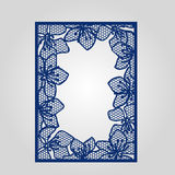 Abstract cutout panel for laser cutting, die cutting or stencil. Royalty Free Stock Photography