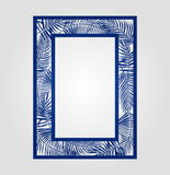 Abstract cutout panel for laser cutting, die or stencil. Stock Image