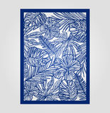 Abstract cutout panel for laser cutting, die or stencil. Stock Photos