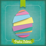 Abstract Cutting Easter Egg Vintage Frame Ostern Stock Photography