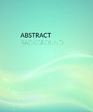 Abstract cyan background with smooth lines Stock Photography