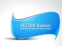 Abstract cyan banner Royalty Free Stock Image