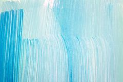 Abstract cyan hand painted background Stock Image