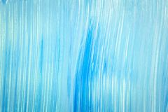 Abstract cyan hand painted background Stock Photos