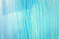 Abstract cyan hand painted background. Abstract brushed cyan hand painted acrylic background, creative abstract hand painted background, close-up fragment of Stock Photos