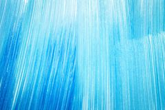 Abstract cyan hand painted background. Abstract brushed cyan hand painted acrylic background, creative abstract hand painted background, close-up fragment of Stock Photo