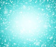 Cyan winter background with snowflakes. Abstract cyan winter background with snowflakes vector illustration