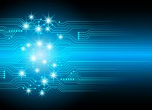 Abstract cyber hi speed digital technology, cyber security conce Royalty Free Stock Photo