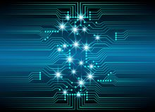 Abstract cyber hi speed digital technology, cyber security conce Stock Photos