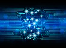 Abstract cyber hi speed digital technology, cyber security conce Stock Photo