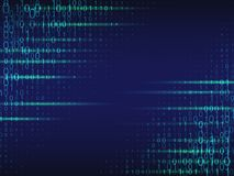 Abstract cyberspace background with binary code. Abstract cyberspace blue background with binary code Stock Illustration