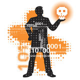 Modern Hamlet in cyberspace Stock Photo