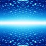 Abstract cyberspace background Royalty Free Stock Photography