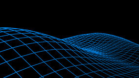 Abstract  cyberspace background. Landscape or wave grid illustration. 3d technology wireframe . Digital mesh for banne. Rs Stock Photo