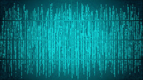Abstract cyberspace with digital lines, binary code, matrix background with digits. High-tech computer digital background with blue digital lines Stock Images