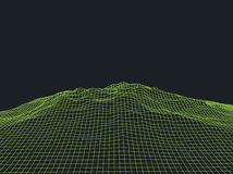 Abstract Cyberspace Grid Landscape Background Royalty Free Stock Images