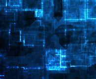Abstract Cyberspace Technology Background. In Blue tones Royalty Free Stock Image