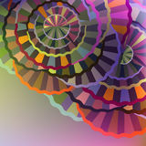 Abstract cycles. Multicolored abstract background with geometric cycles Stock Photography