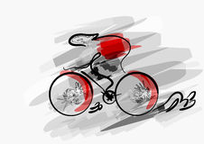 Abstract cycling Royalty Free Stock Images