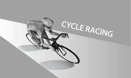 Abstract cyclist on the road. Polygonal cycling banner. Cycle racing low poly sport background. Abstract cyclist on the road. Polygonal cycling banner. Cycle vector illustration