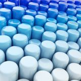 Abstract cylinder background composition Stock Photo