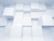 Abstract 3d architecture background with cubes. Abstract 3d architecture background with white cubes stock illustration
