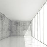 Abstract 3d architecture background, empty white interior Stock Photography