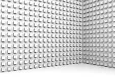 Abstract 3d architecture background with small cubes. Abstract architecture background with small cubes pattern on walls, 3d illustration Stock Photo