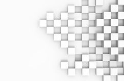 Abstract 3d architecture background. With white cubes Stock Photo