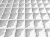 Abstract 3d architecture background. White square cellular surface stock illustration