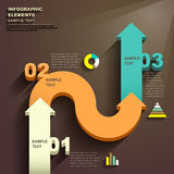 Abstract 3d arrow infographics. Vector abstract flat design infographic elements Stock Photos