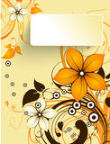 Abstract 3D autumn banner Royalty Free Stock Images