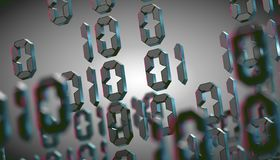 Abstract 3d background,Binary Language and virtual matrix concept.3d illustration royalty free stock photo
