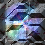 Abstract 3d background of blocks with spectral rainbow rays Stock Images